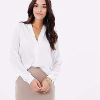 Atmos & Here Opal Blouse - White Size 14