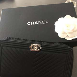 Auth Chanel boy chevron wallet rrp1300