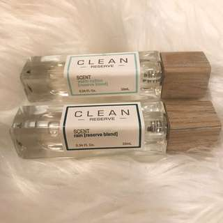 Warm Cotton Reserve and Rain Reserve by CLEAN Perfume