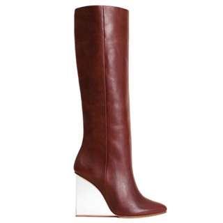 H&M X Margiela Leather Boots Plexi Heel