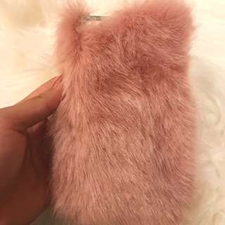 Furry phone case for iPhone 7 and 8