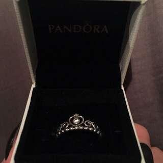 PANDORA SIZE 8.5 PRINCESS RING