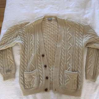 Pure Wool Vintage Cardigan
