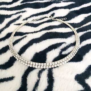 Double Row Crystal Choker