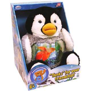 Charming Penguin Cuddly Teddy Tank Fish Bowl