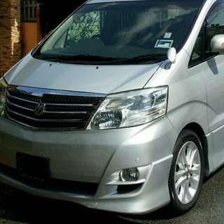 Alphard Vellfire Guaranteed 110 daily