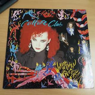 Culture Club Waking Up With The House On Fire Vinyl LP Original Pressing Rare