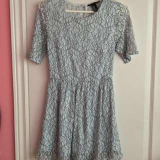 *REDUCED* Blue & Black Forever 21 Lace Dress