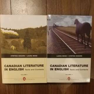 Canadian Literature in English Vol. I & II