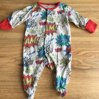 Next Sleepsuit Superhero Baby 0-3