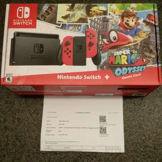 CHEAP Brand New Nintendo Switch Mario Odyssey Game Bundle Local Set