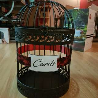 Catd box - red and black bird cage