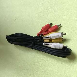 RCA cable red yellow white