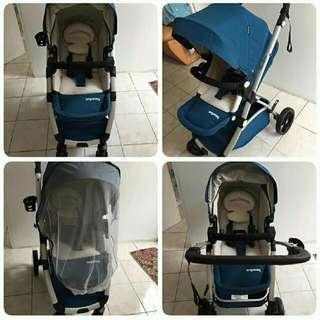 Baby Stroller Angelbay Warna Biru