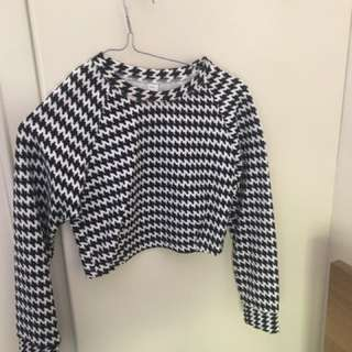 American Apparel long-sleeved crop