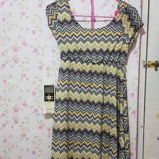 Dress zigzag