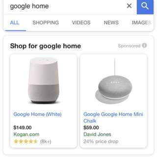 Google home and google mini