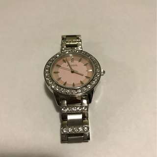 Silver with Pink Face Fossil Watch