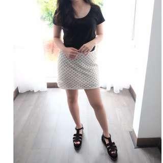 Zara White Beads Skirt