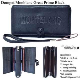 Dompet Kulit  Monblank Great Prime - Black