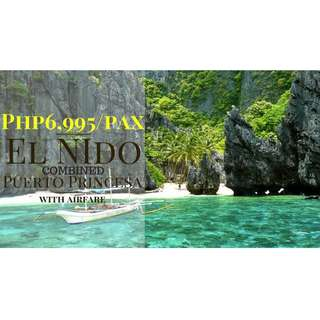 PROMO COMBO PALAWAN EL NIDO-PUERTO PRINCESA ALL IN TOUR PACKAGE