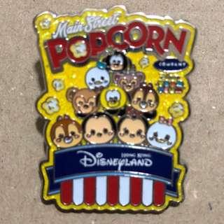 TSUMTSUM Main Street POPCORN PRETZELS 盒裝 PIN  迪士尼 徽章 Disney Pin