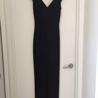 Black seduce split front full length gown