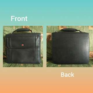 Wenger Swiss Army Multi-Function Black Pro-Folio Briefcase Organiser