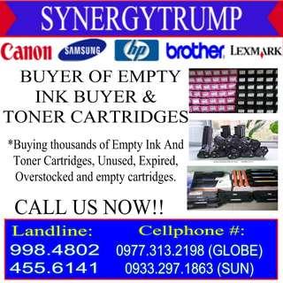 HIGHEST PRICE BUYER OF EMPTY INK AND TONER CARTRIDGES