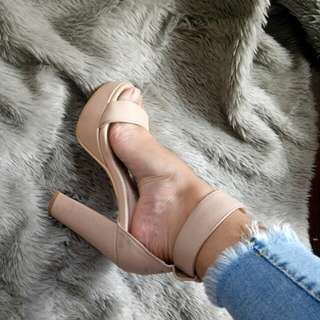 4inches nude heels