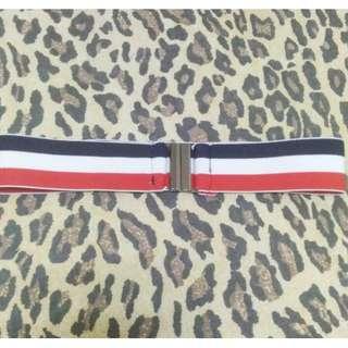 紅白藍條彈性腰封腰帶皮帶