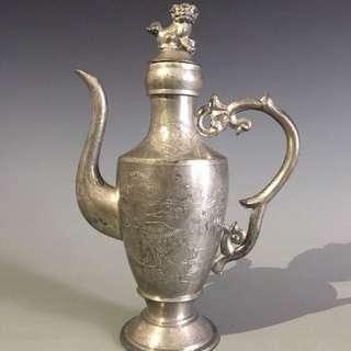 日本老錫制酒壺