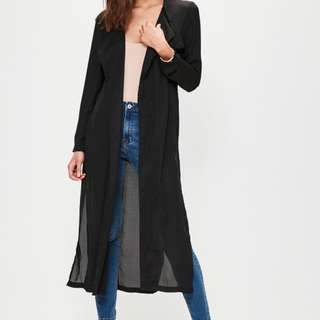 MISGUIDED-BLACK DUSTER COAT