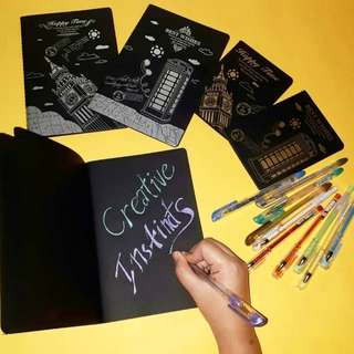 Notebooks with Black Pages