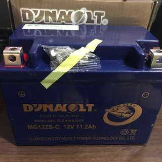 Dynavolt mg12zs-c nano-gel 12V 11.2Ah replacement for ytz12s and ytz14s ($95)