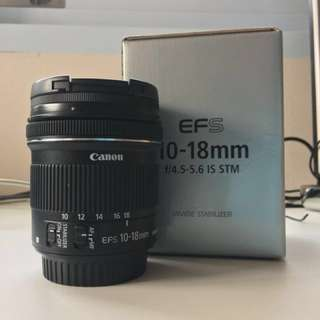 Canon EFS 10-18mm f4.5-5.6