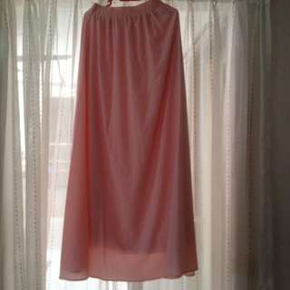 Peach Long Skirt