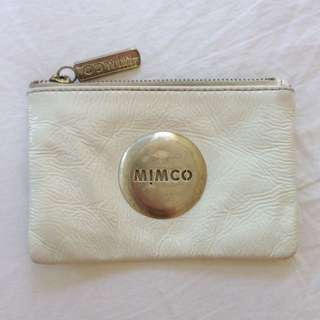 Mimco White Leather Pouch