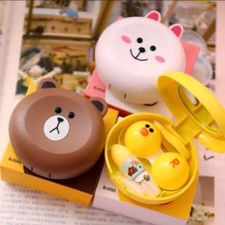 Line characters contact lens box