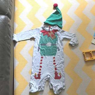 (全新包郵) NEXT Christmas baby outfit costume 聖誕衫(12-18m)
