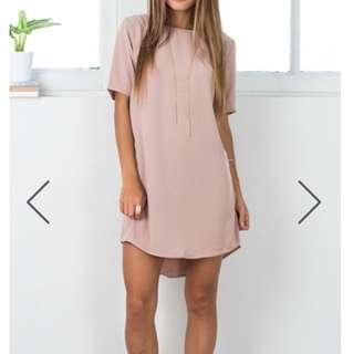 WAY IT IS SHIFT DRESS IN MOCHA