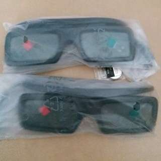 Samsung 三星 3D 立體眼鏡 連電池 兩副