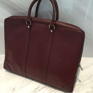 Louis Vuitton Epi Leather Document Bag in Maroon Red