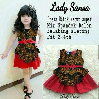 TiaCR dress Sansa - dress batik anak - batik anak 4 th
