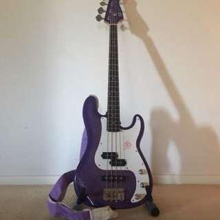 SX Gypsy rose bass guitar
