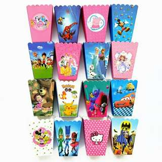 Cartoon Disney Characters Popcorn Box