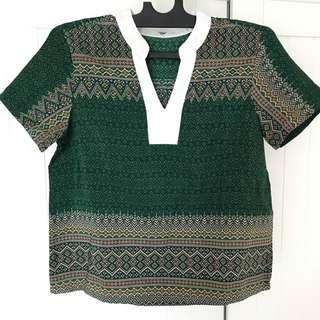 Custom atasan - green