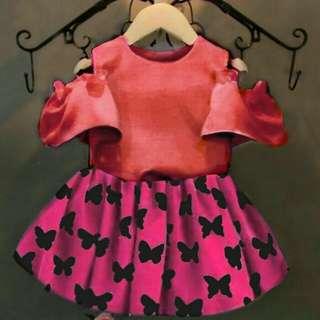 TiaCR Cecil Salempink Kid - Dress bunga - dress anak 3th - Flower dress