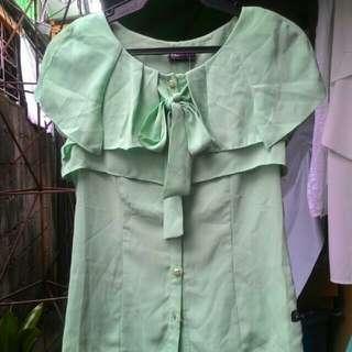 RRJ Mint green Chiffon Blouse