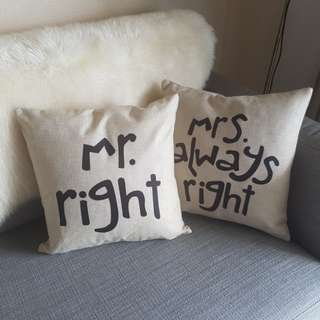 Canvass Pillow Cases (Set of 2)